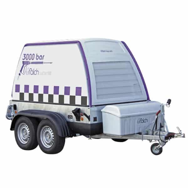 Vysokotlakový čistič na prívesnom vozíku - 3000bar