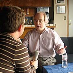 Jakob Nielsen being interviewed by Technikwuerze