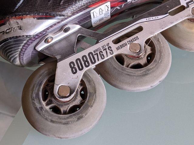 Comment choisir ses roues de roller hockey - Dimensions des roues sur le chassis