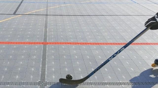 Contrôle rondelle sur la tranche - Approche coup droit - Technique-Hockey