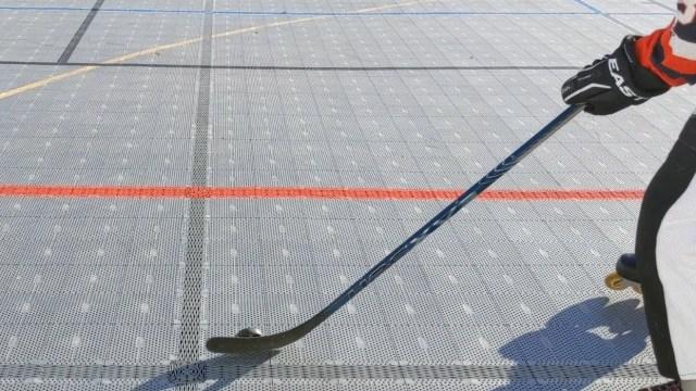 Contrôle rondelle sur la tranche - Palette colée à la rondelle - Coup droit - Technique-Hockey