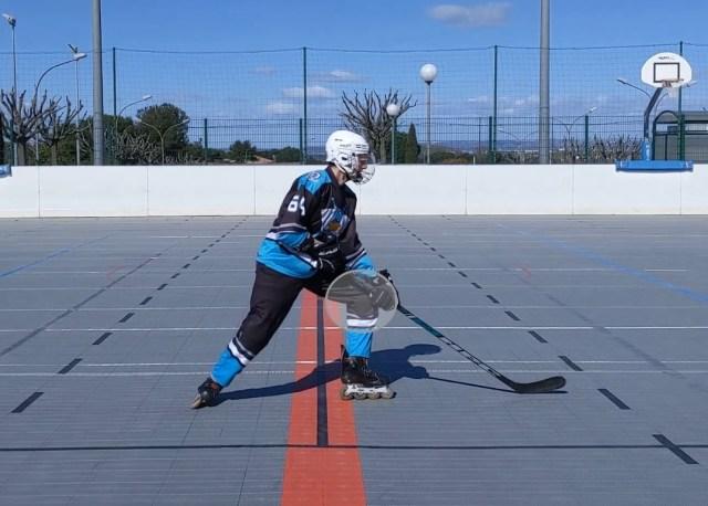 Freinage en T - Plier le genou avant - Technique Hockey