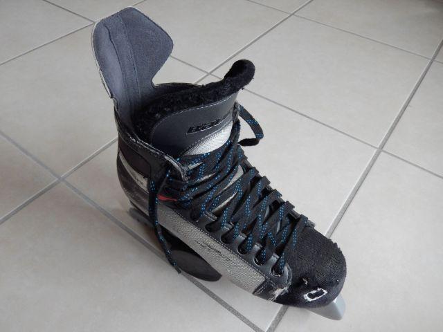 Patin de hockey sur glace - Lacets non cirés