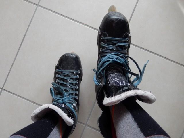 Patin de roller hockey - Lacets non serrés
