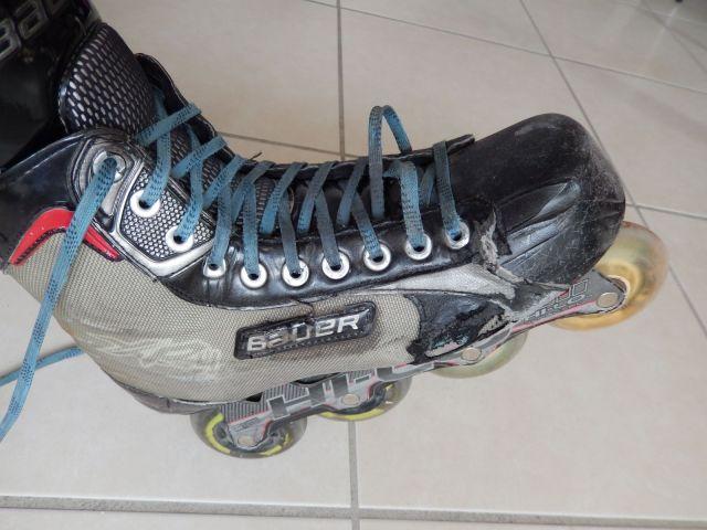 Comment lacer efficacement ses patins de hockey - Patin de roller hockey - Talon au sol