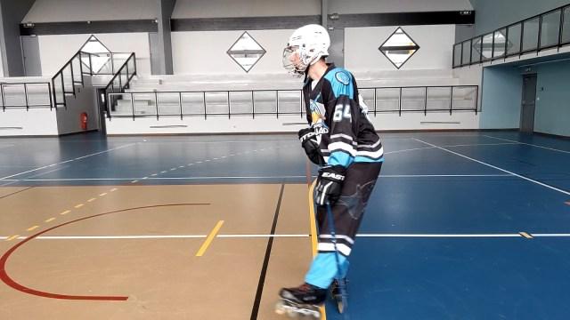Virage, épaules et tranfert de poids - Déplacement de la jambe extérieure au virage - Technique-Hockey