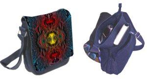 Techno Art Designer Handtasche