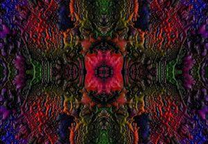 Techno Art Leinwand Bild