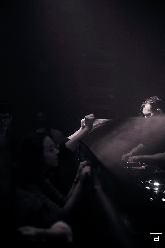 Techno DJ in the club Tresor