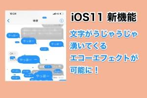 iOS11の新機能 iMessageで文字がうじゃうじゃでる「エコー」エフェクトが可能に!