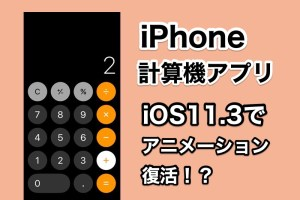 Appleの計算機アプリで以前発生した不具合がiOS11.3で完全に修正!?アニメーションが復活!