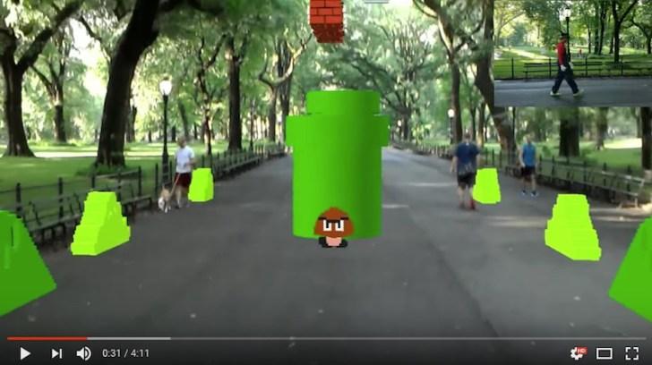 ストリートファイター2やスーパーマリオをARでプレイできるアプリの開発者がすごい!