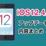 【iPhone】iOS12.4.1がリリース!アップデート内容や変更点まとめ!
