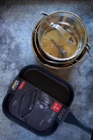 Komplet garnków MGK-11 i patelnia grillowa MPG-28701_małe zdjęcie