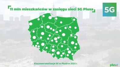 3. 11 mln mieszkańców w zasięgu sieci 5G Plusa