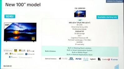 Sony Bravia FW-100BZ40J