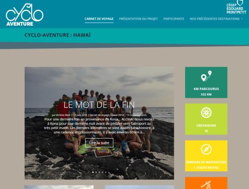 Refonte du site Cyclo-Aventure