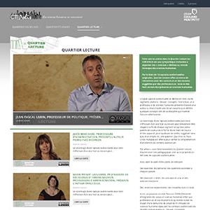 Capture d'écran du site web Citépolis