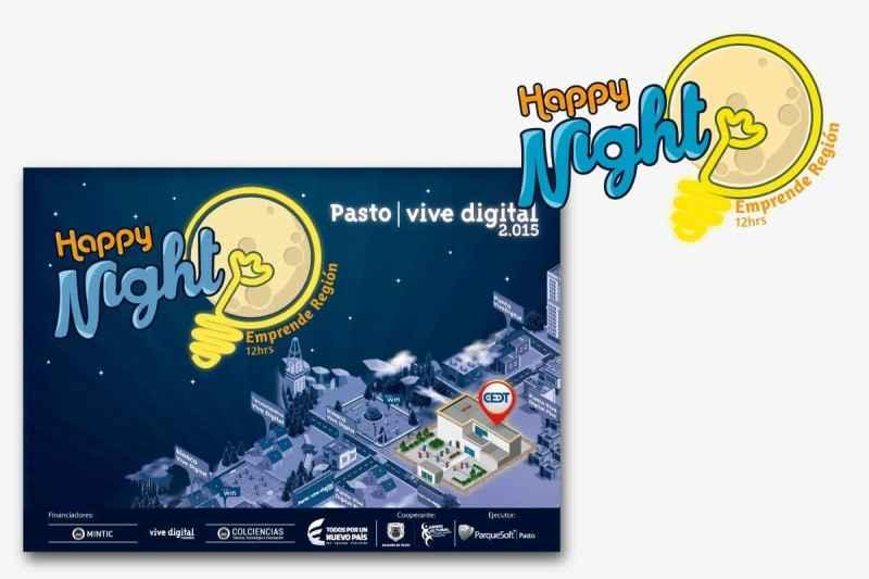 Diseño de imagen Happy Nights Parquesoft