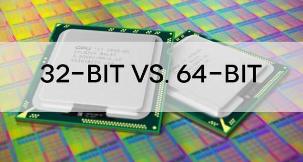الفرق بين نظام 32 بت ونظام 64 بت