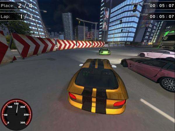 لعبة racing supercars