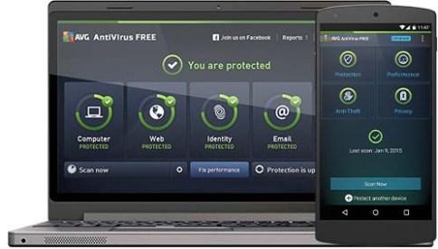صورة من داخل تطبيق AVG