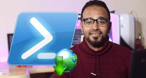 تحميل الملفات من الانترنت باستخدام windows powershell