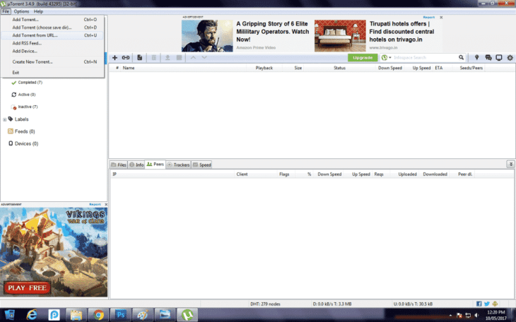 Download Movies Using uTorrent 9