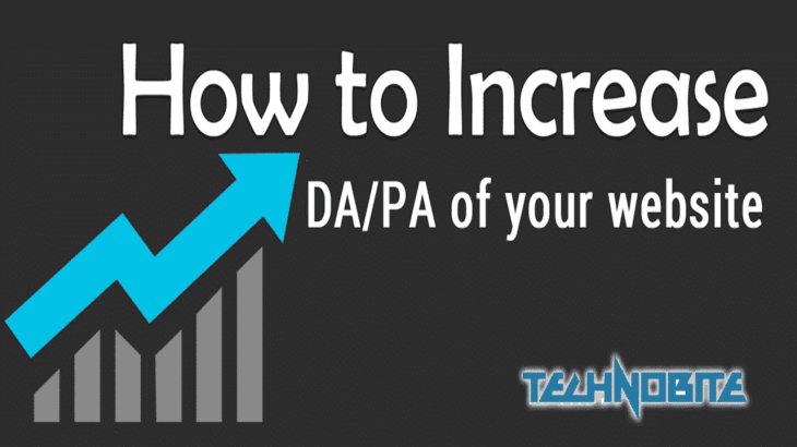 increase domain authority and page authority of website