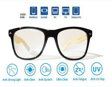 Yizmo-Bamboo-and-Black-Frame-Gaming-Glasses