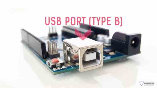 Arduino Uno USB port Type B