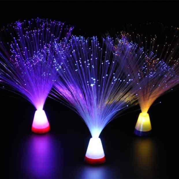 Fancy fiber optic lamp