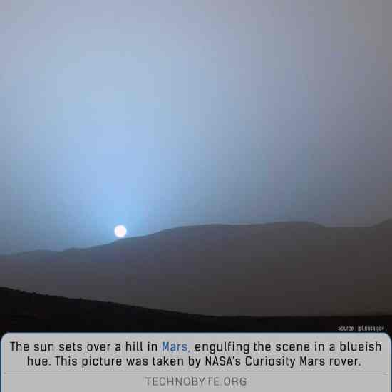 sunset on planet mars