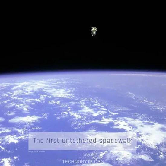 the first untethered spacewalk EVA - interesting fact