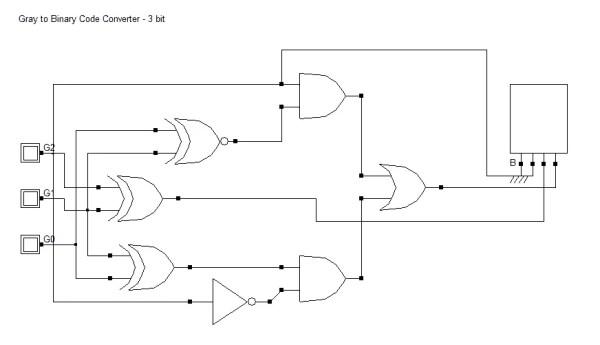 Gray to Binary Code Converter - 3 bit