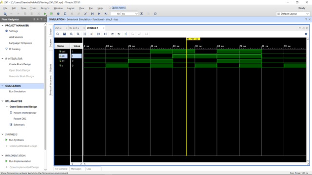 Simulation Waveform 2:1 MUX
