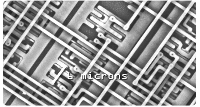 Zoomed in image of a microchip
