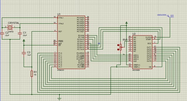 Interfacing_8051_with_ADC0808 - circuit diagram schematic