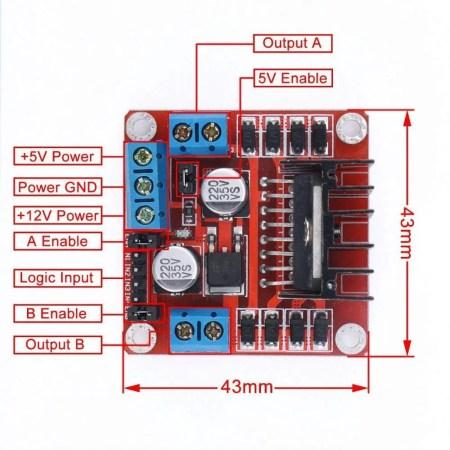 L298N circuit diagram