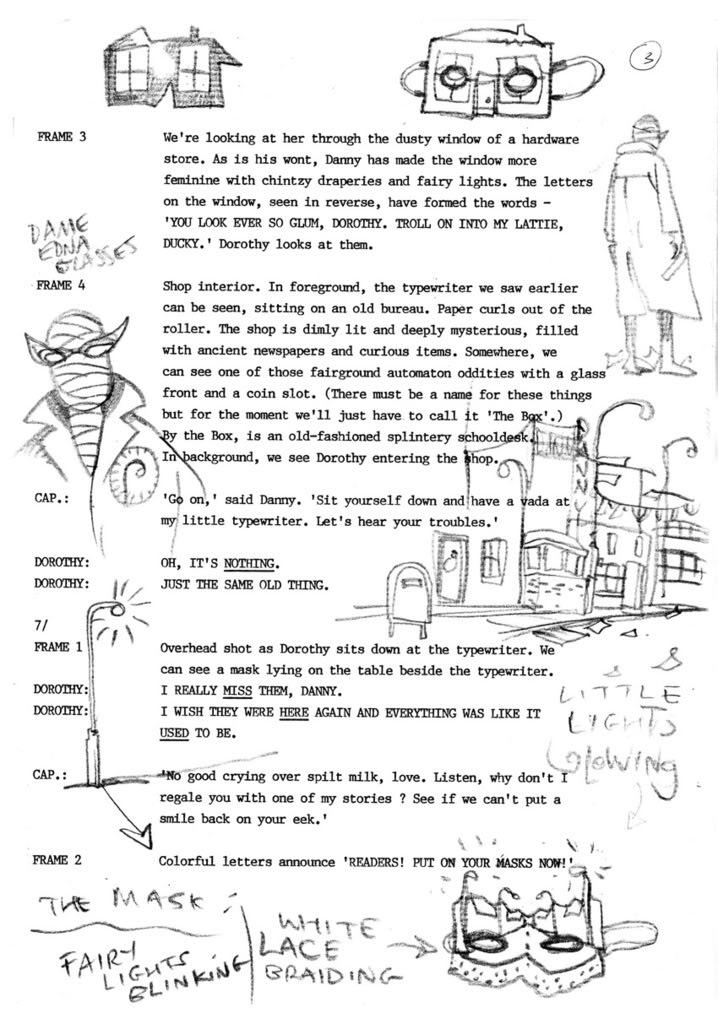 Lost Doom Patrol script, page 2