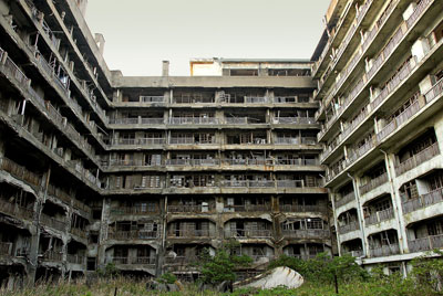 abandoned city Hashima Island Japan