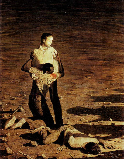 Southern Justice (Murder in Mississippi) by Norman Rockwell
