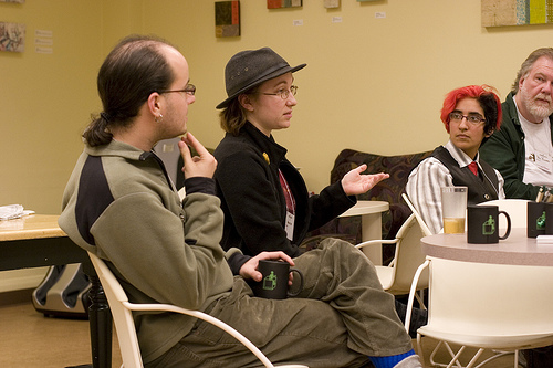 A typical conversation at CyborgCamp
