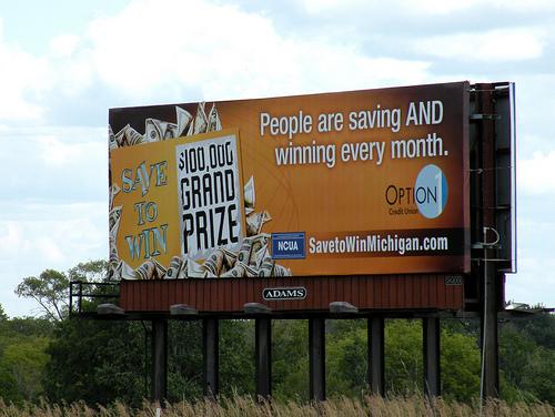 Save to Win billboard