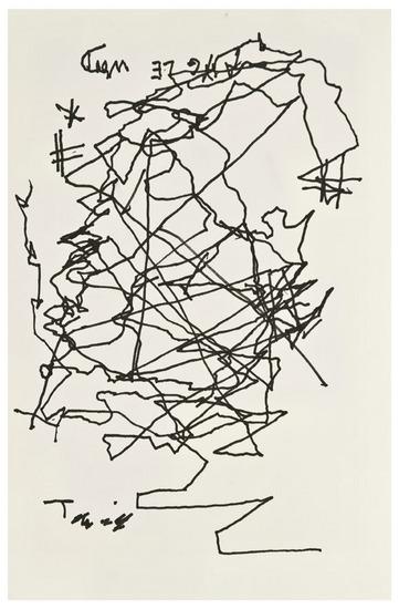 Jorge Luis Borges self-portrait