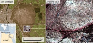 infra-red satellite images of lost egyptian pyramids