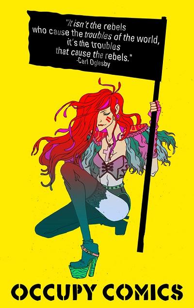 Godkiller Occupy Comics Black Flag