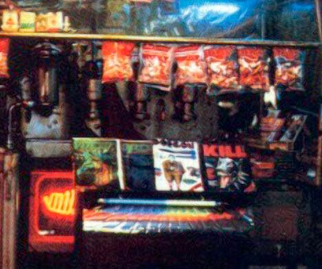 city magazine stand