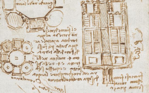 Page from Leonardo Da Vinci's journal