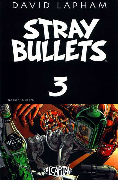 "Stray Bullets issue 3 ""The Party"" cover"